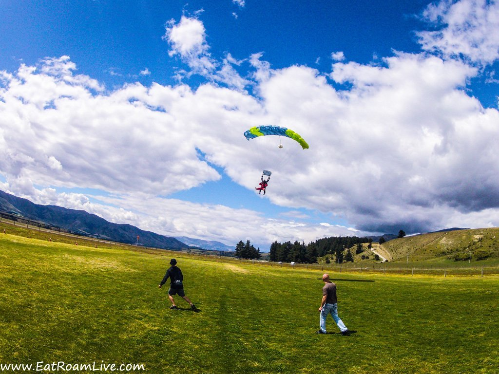 About to land - Skydive Wanaka