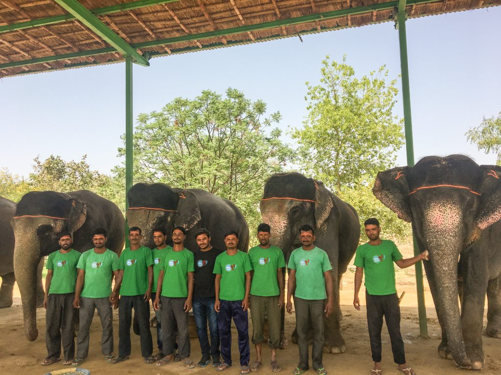 The Team at Elefantastic Elephant Sanctuary in Jaipur, India