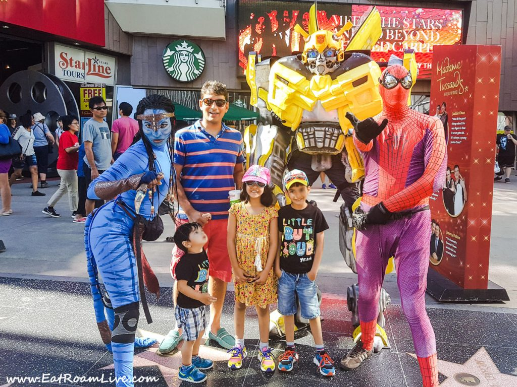 Family fun on Hollywood Walk of Fame