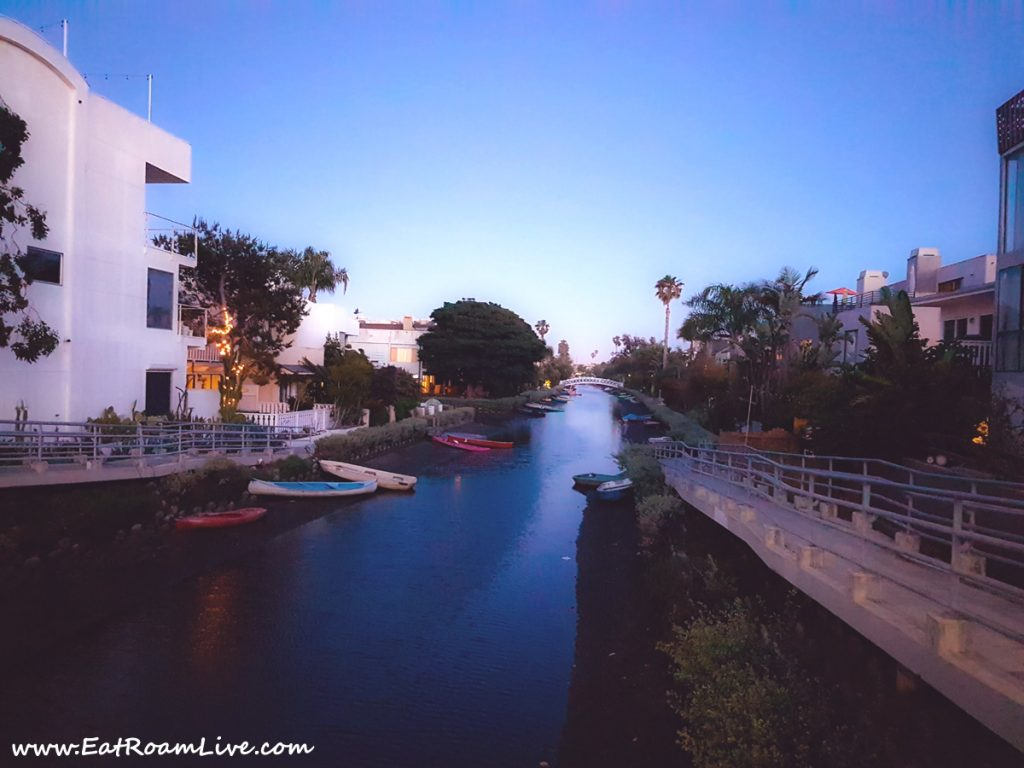 Venice Canals Walkway at Dusk