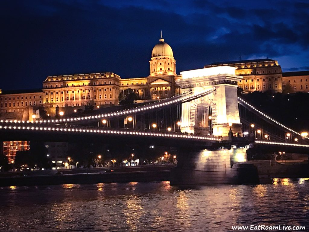 The Danube Bridge at Night - A sight for sore eyes