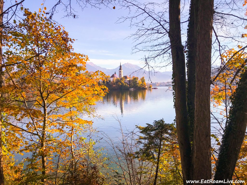 Morning walk on Lake Bled