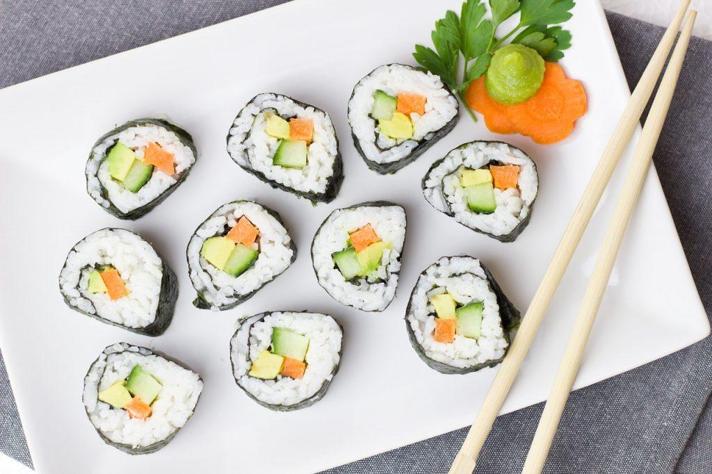 Vegetarian Sushi - ERL Vegetarian Food Blog singapore