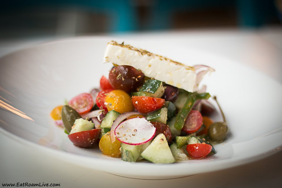 The colourful and refreshing Greek Salad - at Mykonos on the Bay Greek Restaurant
