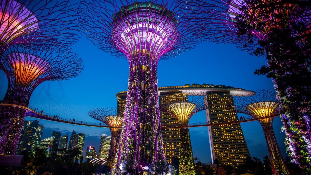Super Tree Indochine, Gardens by the Bay, Singapore, roof top bar, night club