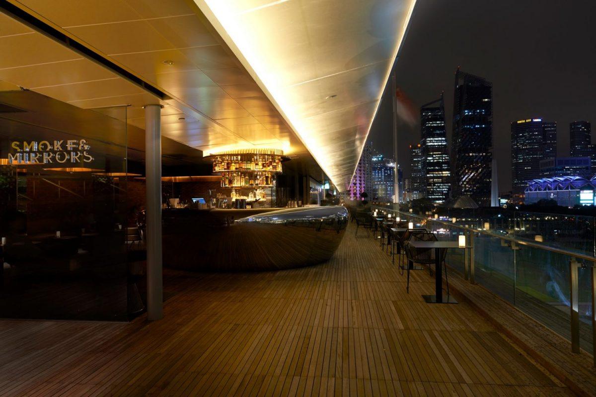 Smoke and Mirrors, Roof Top Bar, night club, Singapore
