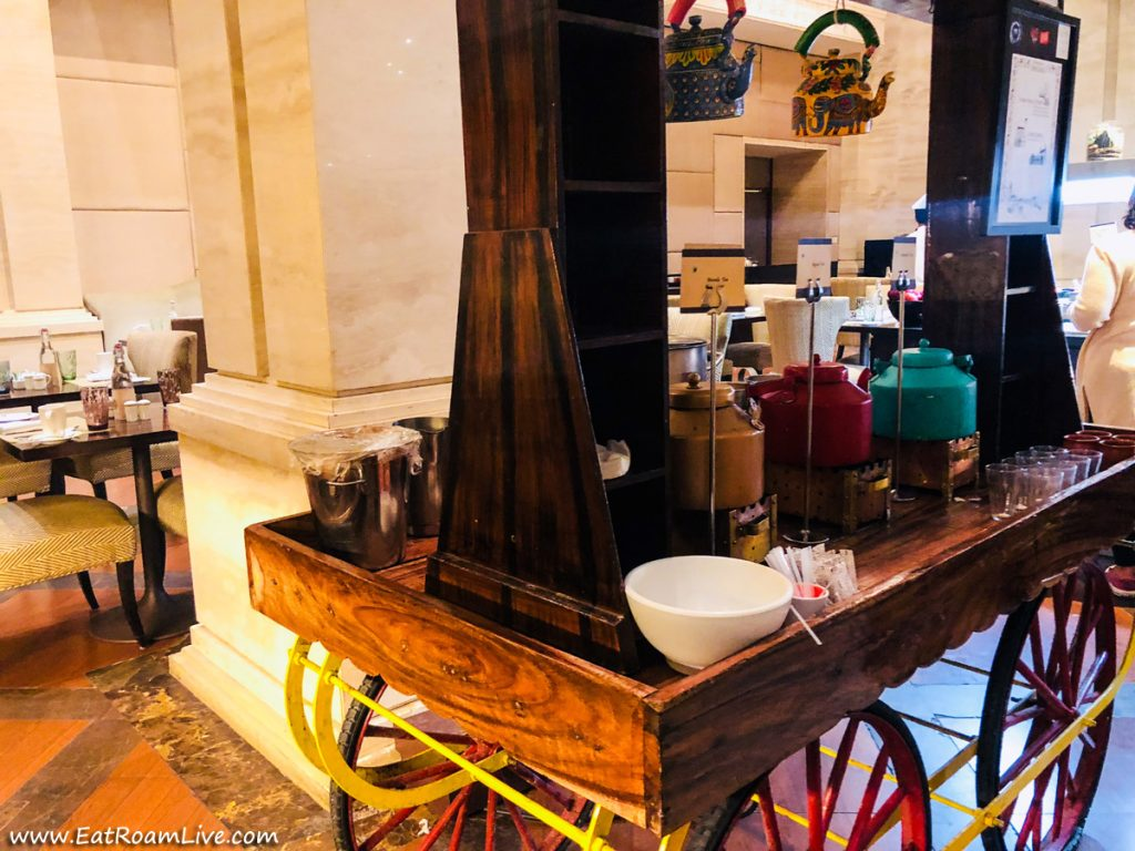 The Chai Cart at ITC Grand Chola, Chennai India, Luxury Hotel