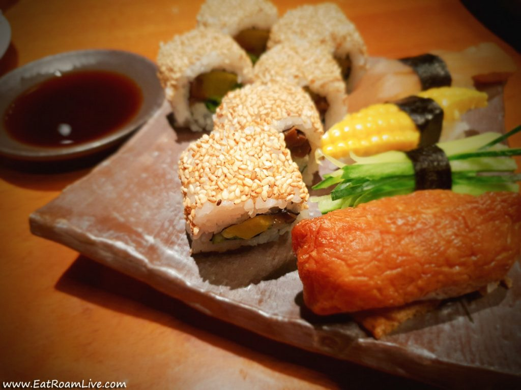 Vegan Sushi at Mezza9, Grand Hyatt, Singapore