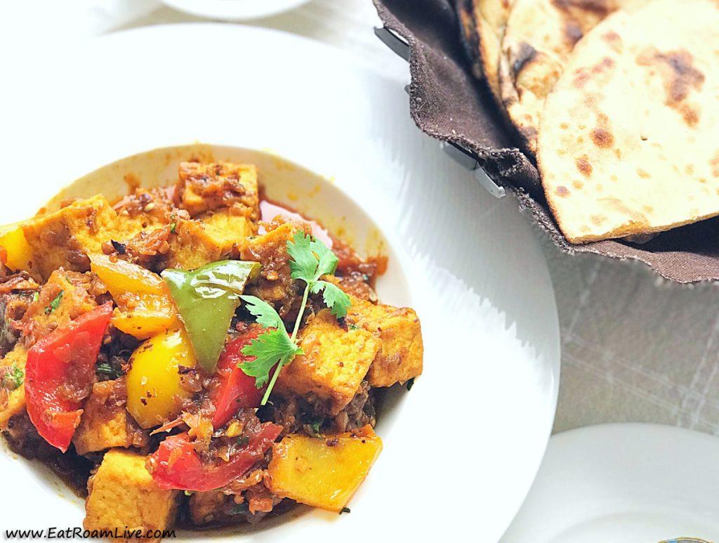 Kadhai Tofu Vegetarian Vegan Menu at Yantra