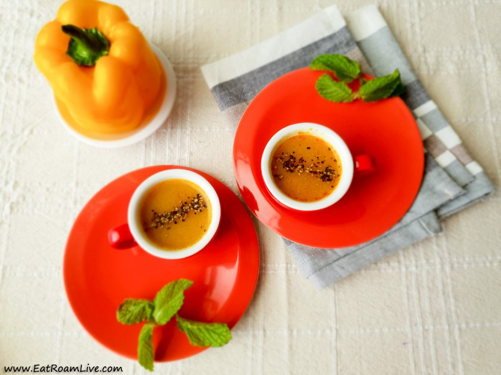 Peeli Mirch ka Shorba - Vegetarian Vegan Menu at Yantra