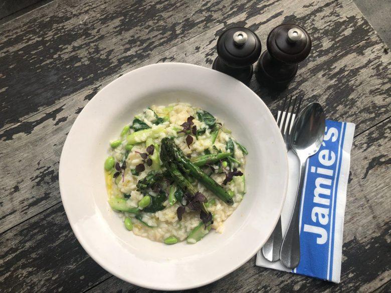 Vegan Recipe: Lemon & Asparagus Risotto by Jamie's Italian