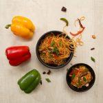 Vegetable Hakka Noodles at Copper Chimney