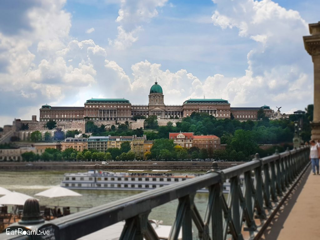 View of Castle Hill from Chain Bridge, Budapest with Kids (Itinerary & Things to Do)