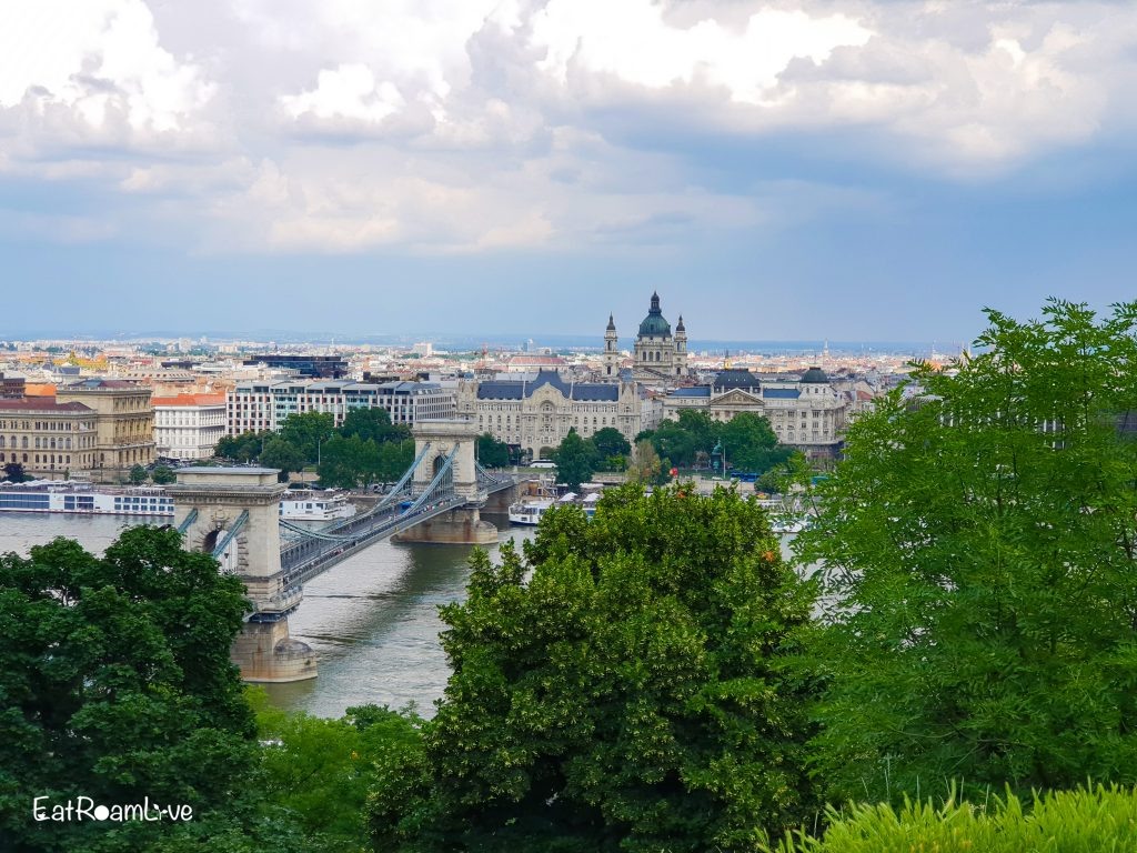 View of Chain Bridge and Gresham Palace from Castle Hill, Budapest with Kids (Itinerary & Things to Do)