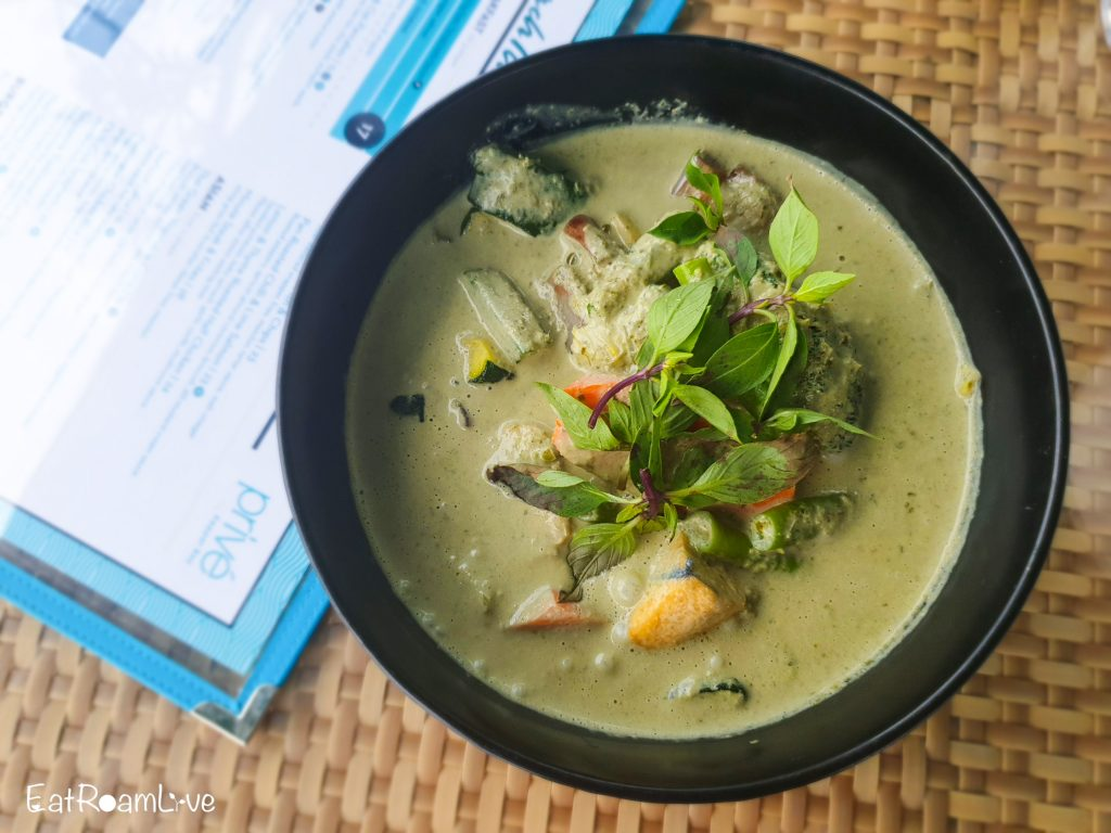 Thai curry at Prive Keppel Bay: Vegetarian Review