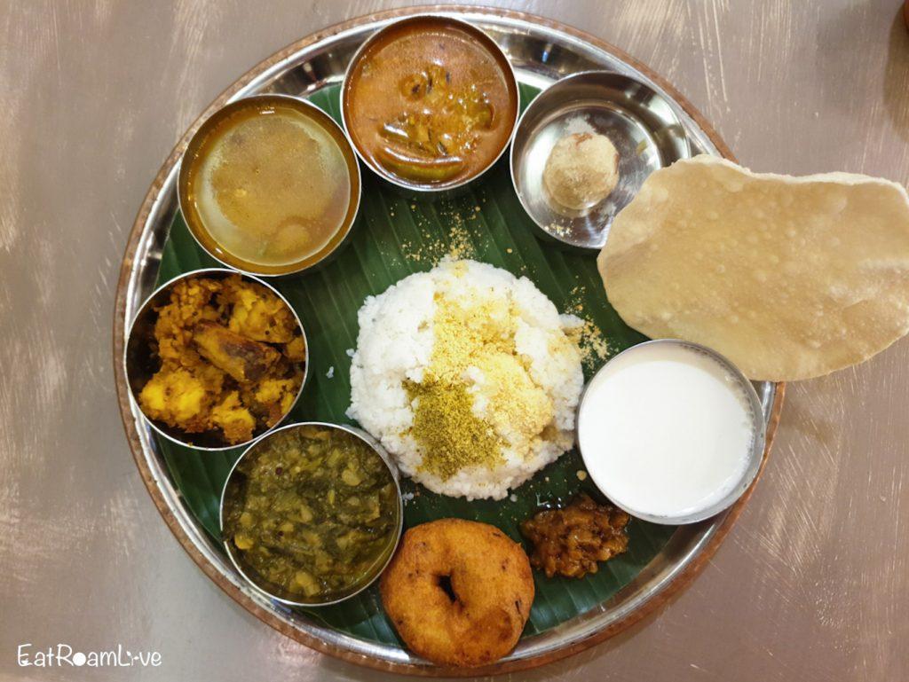 Chef's Plate at Podi & Poriyal