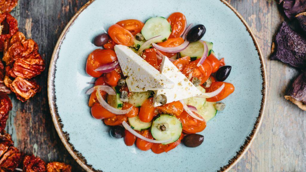 Greek Salad. Fotia, Greek restaurant, EatRoamLive