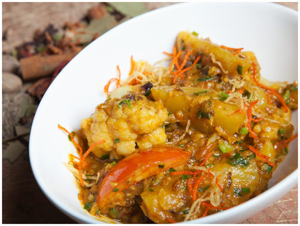 Gobi Aloo Shahi Maharani Vegetarian Vegan Dining Review