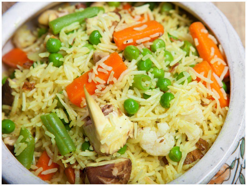 Veg Pulao Shahi Maharani Vegetarian Vegan Dining Review