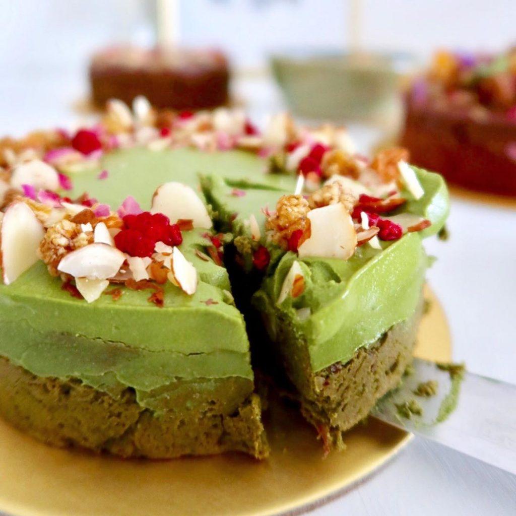 Flourless Double Matcha Fudge Cake